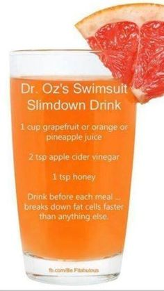 Dr oz slim down drink more. dr oz slim down drink more foods to lose weight, losing weight fast Detox Drinks, Healthy Drinks, Get Healthy, Healthy Snacks, Healthy Weight, Healthy Detox, Dr Oz Detox Drink, Acv Drinks, Quick Detox