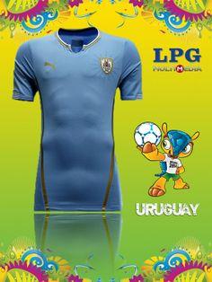 Camiseta de la selección de Uruguay en el mundial #Brasil2014