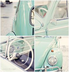 Escarabajo turquesa Start saving for my dream car My Dream Car, Dream Cars, Vw Vintage, Beetle Car, Fancy Cars, Volkswagen Bus, Future Car, Vw Beetles, Custom Cars