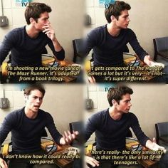Yes. Thank you, Dylan O'Brien YOU SPEAK TRUTH.