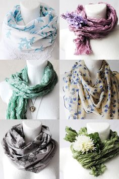 Great ways to wear summer scarves