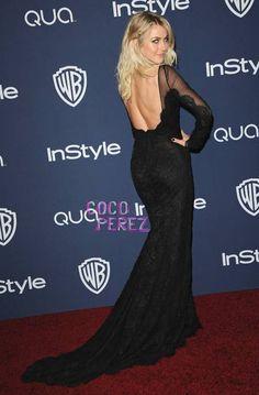 Julianne Hough Shows Off Her Seski Backside At The InStyle & Warner Bros. Golden Globes After Party!