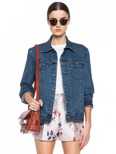 This denim jacket will pair beautifully with printed jumpsuit and sandals // A.P.C. Denim Jacket