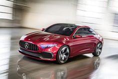 Wat laat deze Concept A Sedan zien, volgens Mercedes-Benz? A - Waar het merk absoluut niet met zijn design naartoe wil? Of B - Waar het merk met zijn design naartoe wil?