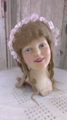 lovely, antique,vintage French WAX mannequin head ,child ,wax head,wax bust , in Collectibles, Advertising, Merchandise & Memorabilia | eBay