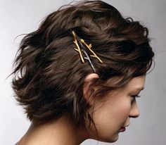 These are super cute // Tree branch bobby pins