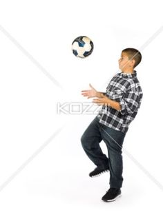 boy with soccer ball - A boy with a soccer ball