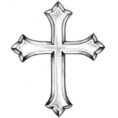 Cross Beautiful Image Drawing