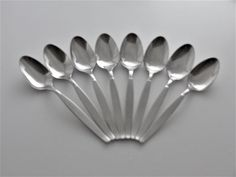 "BLACK ACCENT ONEIDA DELUXE Stainless /""MORNING BLOSSOM/"" TEASPOON 6/"" Burnished"