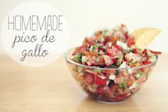 A Sorta Fairytale: The best home-made Picco De Gallo, ever.