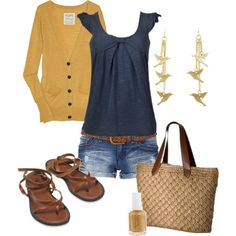 Blue and Gold, created by kaseyofthefields on Polyvore