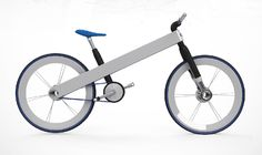 Designer Francisco Ulla's concept for a Toyota brand Hybrid Bike focuses on use of lightweight materials and straightforward functionality of its electric motor that