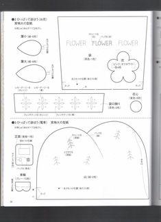 Excelentes idéias e mais de 30 moldes nesta revista japonesa de projetos em feltro. Bom divertimento!!!