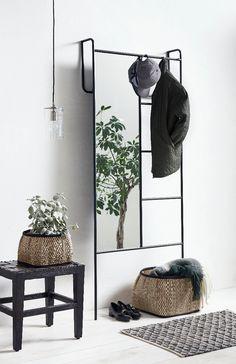 Iron Storage, Storage Rack, Storage Mirror, Metal Furniture, Furniture Design, Furniture Storage, Floor Standing Mirror, Iron Console Table, Mirrored Side Tables