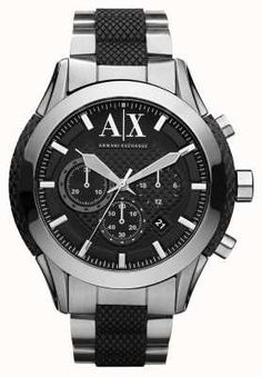 dfe6e254 Armani Exchange Active Stainless Steel Bracelet Watch AX1214 Ax Watches,  Watches Online, Cool Watches