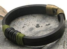 EXPRESS SHIPPING Men's Bracelet .Mens leather by eliziatelye