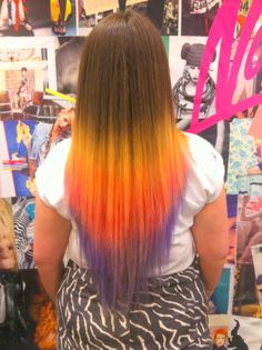 Dip dye/ombre by Bleach London. Not loving the yellow, but I like the overall idea/look