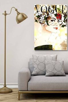 'Green Leaves' Vintage Advertisement Wrapped on Canvas