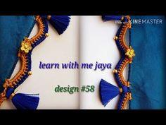 ಸೀರೆ ಕುಚ್ಚು tassels with beads designs tutorial for biginners.learn with me Saree Kuchu New Designs, Saree Tassels Designs, Blouse Designs, Crochet Stitches Patterns, Embroidery Stitches, Hand Embroidery, Stitch Patterns, Japan Design, Design Tutorials