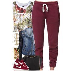 A fashion look from December 2014 featuring LA: Hearts activewear pants, NIKE shoes and MICHAEL Michael Kors tote bags. Browse and shop related looks.