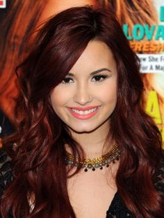 Dark red hair color beauty