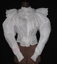 1890's blouse worn by sophisticated working women