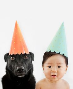 They like celebrating their little lives together. | This Baby And His Dog Friend Are The Most Adorable Twins To Ever Exist