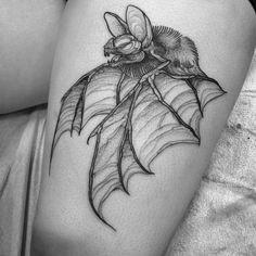 Bat you'll fly ✨ #tattoo by Nomi.tattoo(@)gmail.com