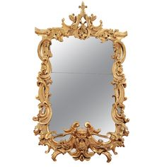 A Magnificent Pair Of Giltwood Mirrors From Palazzo Cenci | From a unique collection of antique and modern wall mirrors at http://www.1stdibs.com/furniture/mirrors/wall-mirrors/