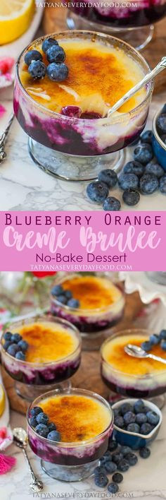 Blueberry Orange No-Bake Creme Brulee - Tatyanas Everyday Food