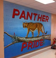 Murals - Amazing Street Painting - Panther Run Elementary #mural #lakeworth #pantherrun #art #panther