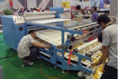 High Speed 800*1900mm Sublimation Heat Transfer Machine   Your best choice for sublimation textile  Contact me: http://feiyuepaper.com/product/610mm-1700mm-multi-functional-roller-transfer-printing-machine-with-100--polyester-fabric/