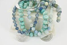 Gemella- Vicki and Kerrie Corney Aquamarine Necklace, Australian Art, Silk Thread, Jewerly, Fine Jewelry, Handmade Jewelry, Jewelry Design, Fashion Jewelry, Feminine