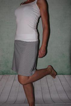 gestreifter Stretch Rock A Form mini Jersey von MeinekreativeWelt