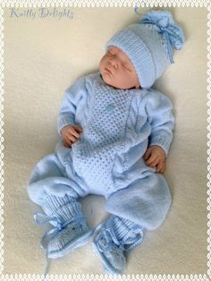 """Diy Crafts - Nyla """"Reborn and Baby Knitwear for sale, also knitting patterns for babies and dolls clothing"""", """"free knitted baby sweater patte Baby Boy Knitting Patterns, Baby Sweater Patterns, Baby Patterns, Free Knitting, Baby Girl Cardigans, Baby Sweaters, Knitted Baby Clothes, Crochet Baby Hats, Crochet Jacket Pattern"""