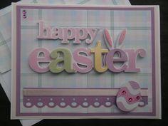 Bunny Ears Handmade Easter Card by ComingUpCrafts