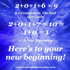 Happy New Year!  Please check out my blog www.heartofalightworker.com for more about the #numerology connected to the universal energy on Earth.
