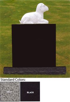 Lamb Statue Headstone