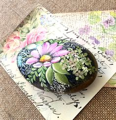 Painted Rock Painted California Beach Rock Paperweight