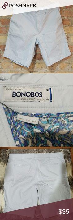 Bonobos Washed Chino Shorts in light ice blue Bonobos Washed Chino in light ice blue. Excellent condition! Bonobos Shorts