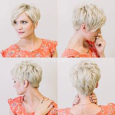 Whippy Cake gorgeous pixie hair update I love the way the back of her hair looks Layered Haircuts For Women, Cute Hairstyles For Short Hair, Popular Haircuts, Pixie Hairstyles, Pretty Hairstyles, Short Hair Cuts, Easy Hairstyles, Curly Hair Styles, Pixie Cuts