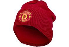 Buy the adidas Manchester United Beanie from SoccerPro right now. Manchester United Gear, Jersey Atletico Madrid, Soccer Gear, Best Club, Beanie, The Unit, Adidas, Red, Beanies