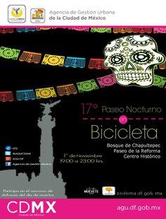 #LaCatrinaCDMX te invita al 17° Paseo Nocturno en Bicicleta, asiste y participa en el tradicional concurso de disfraces.