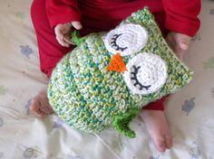 """Crochet """"Owl Love You Forever"""" Cuddle Pillow Pattern #crochet #haken"""