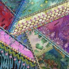 Simply Crazy Quilt Series 1 Part 3  another lovely in the hoop crazy patch design