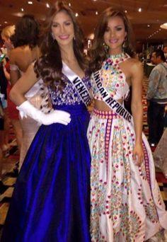 Miss Veenzuela Mariana Jimenez y Miss Republica Dominicana Clarisa Molina en las Actividades del Miss Universo 2015 en Las Vegas..