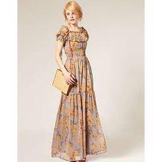 Gathered tier dress