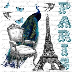 Free Printable Wall Art ...Beautiful Paris Collage !