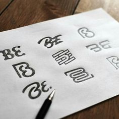 Beautiful logo sketches by - Erin Dwyer Web Design, Logos Online, Logo Sketches, Logo Process, Typographic Logo, Beauty Logo, Letter Logo, Corporate Design, Logo Nasa