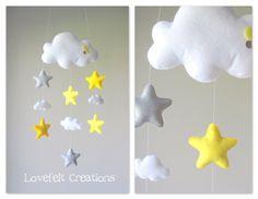 Baby mobile  Stars mobile  Cloud Mobile  by GiseleBlakerDesigns